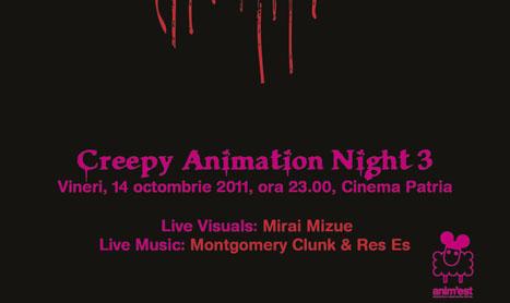 21 de scurtmetraje de animatie ruleaza la Creepy Animation Night 3