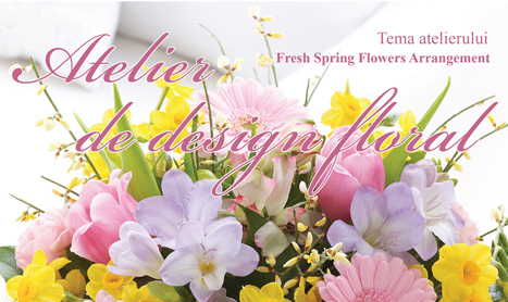 Design floral: Aranjament cu flori de primavara