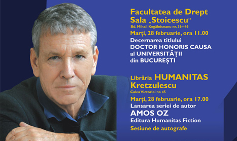 Scriitorul Amos Oz va fi prezent in Romania pe 27 si 28 februarie
