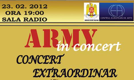 23 februarie: debut de stagiune pentru Army in Concert