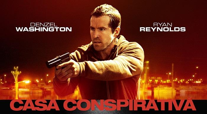 "Denzel Washington si Ryan Reynolds impart ""Casa conspirativa"""