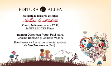 """Editura Allfa lanseaza colectia """"Iubiri de altadata"""""""