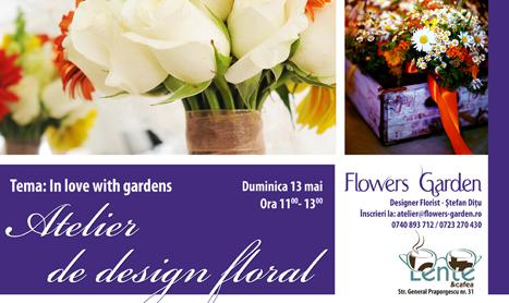 "Atelier de design floral: ""In love with gardens"""