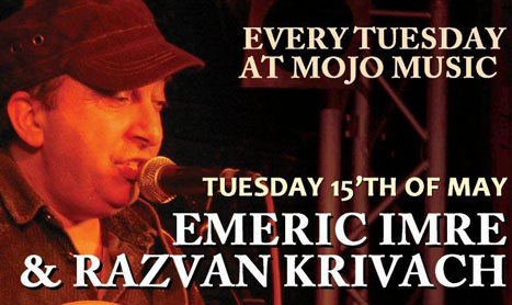 Concert Emeric Imre in Mojo pe 15 mai