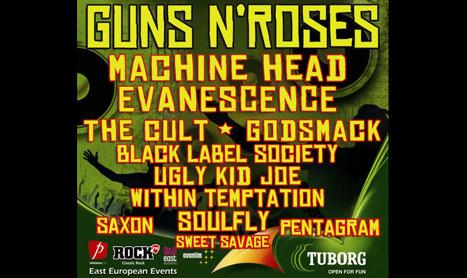 Guns N' Roses va canta aproape trei ore in Romania
