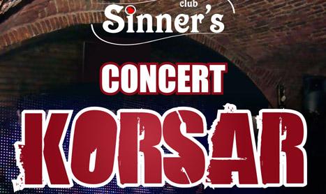Trupa Korsar concerteaza pe 4 mai in Club Sinner's