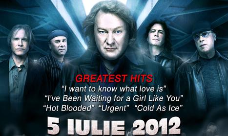 Fostul vocalist Foreigner vine in Romania