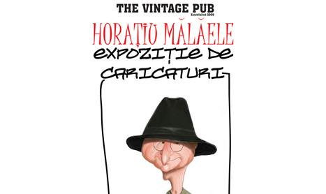 Horatiu Malaele isi expune caricaturile in Vintage Pub