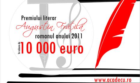 10 000 de euro pentru cel mai bun roman romanesc din 2011
