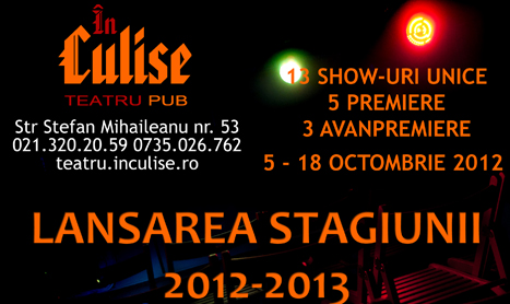 "Teatrul ""In Culise"" lanseaza stagiunea 2012-2013"