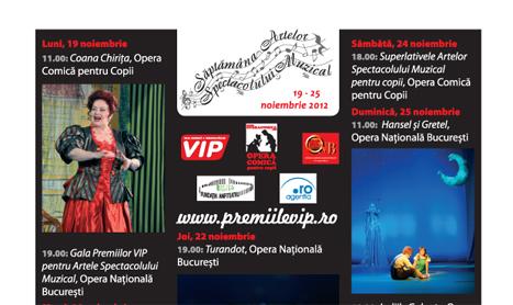 19-25 noiembrie: Saptamana Artelor Spectacolului Muzical