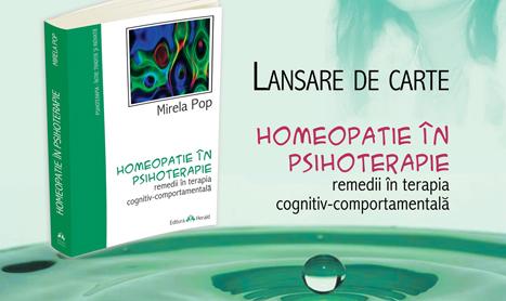 """Lansare de carte: """"Homeopatie in psihoterapie"""""""