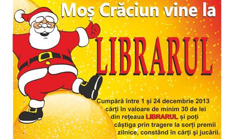 Mos Craciun vine la Librarul si in 2013
