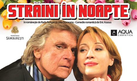 """Florin Piersic ofera flori la spectacolul """"Straini in noapte"""""""