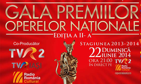 Gala Premiilor Operelor Nationale se vede la TVR
