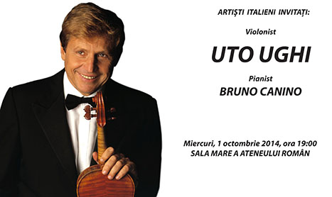 Uto Ughi si Bruno Canino canta in Bucuresti de Ziua Internationala a Muzicii
