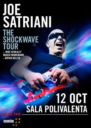 JOE SATRIANI revine in Romania pentru doua concerte exceptionale de rock intstrumental!