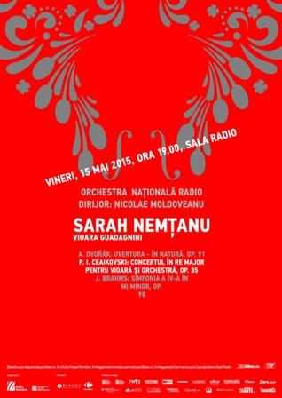 "Sarah Nemtanu, ""adevarata"" violonista din filmul ""Concertul"" canta Ceaikovski la Sala Radio"