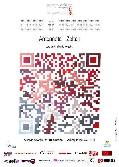 Expozitie de pictura Antoaneta Zoltan: Code#Decoded