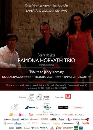 """Seara de jazz cu """"RAMONA HORVATH TRIO"""" la ATENEU"""