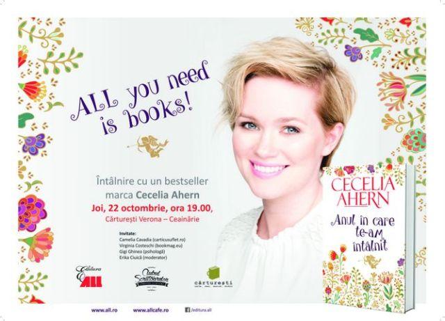 Save the Date: Intalnire cu un bestseller marca Cecelia Ahern la Carturesti