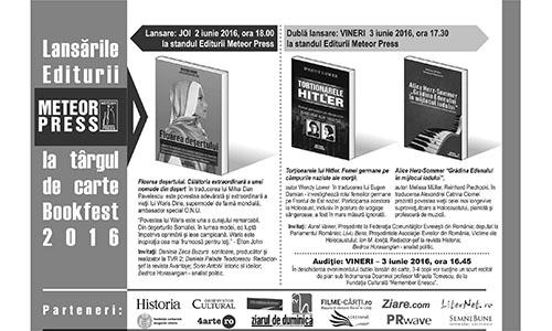 Evenimentele Meteor Press la Bookfest 2016