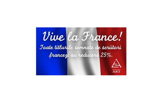 Editura Art: 25% reducere pentru scriitorii francezi