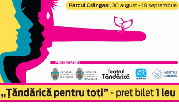 """Teatru, strada si copil"" continua in Parcul Crangasi"