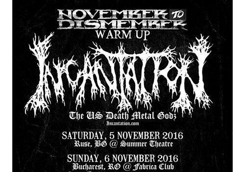 Incantation concerteaza in Bucuresti pe 6 noiembrie
