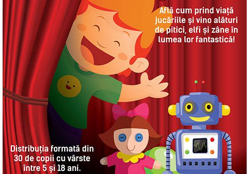 """Teatru pentru copii: """"Atelierul cu jucarii"""""""