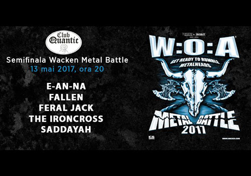 Wacken Metal Battle 2017 ajunge in Capitala pe 13 mai