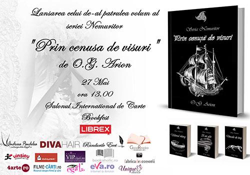 A patra carte a seriei Nemuritor (O.G. Arion) se lanseaza la Bookfest