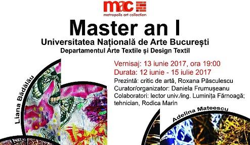 Expozitie de arta textila MASTER anul I