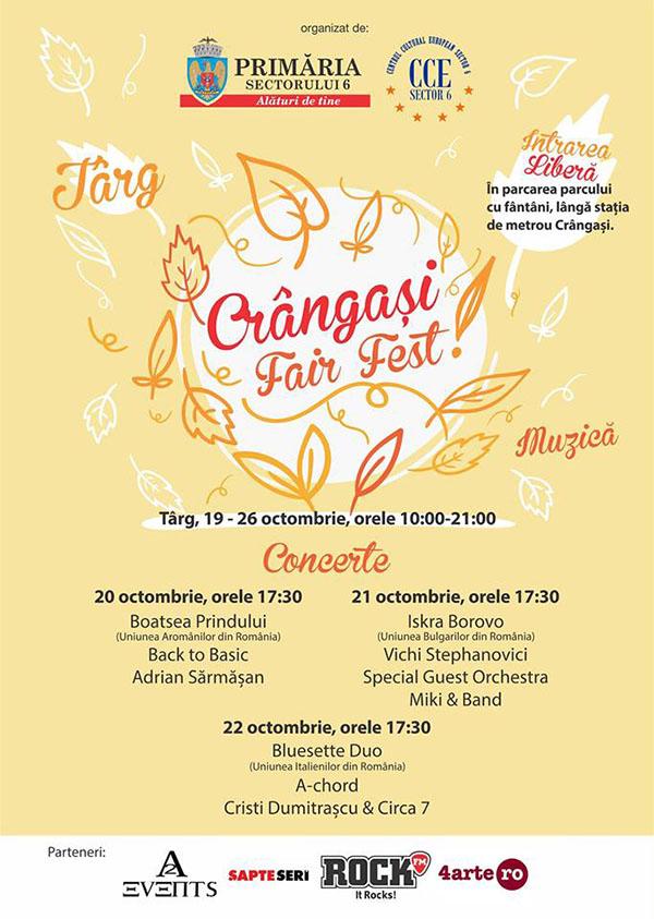 19-26 octombrie: Crangasi Fair Fest