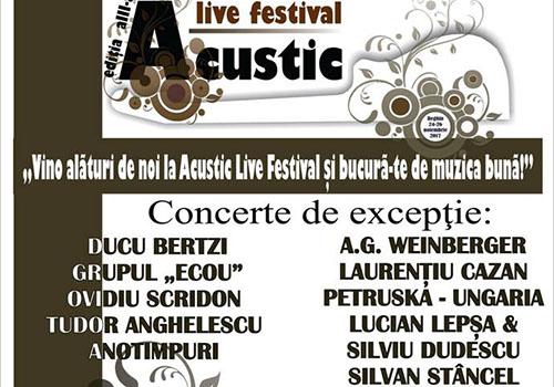 Inca doua saptamani pana la Acustic Live Festival
