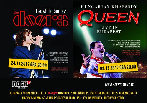 Concerte remasterizate Kiss, The Doors si Queen se vad la Happy Cinema