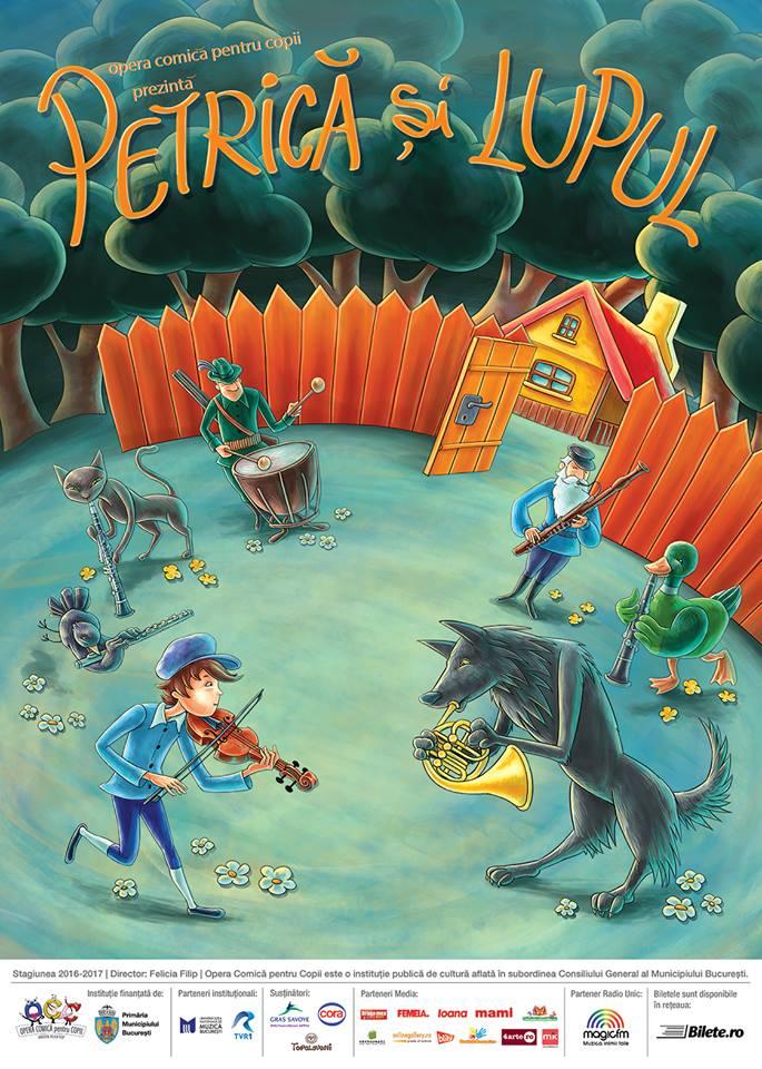 """""""Petrica si lupul"""" se joaca la Opera Comica pentru Copii"""