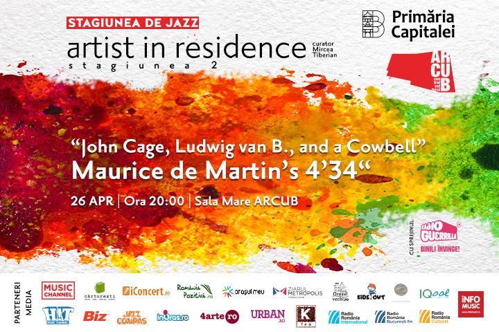 """Concert la Arcub: """"John Cage, Ludwig van B. and a Cowbell"""""""