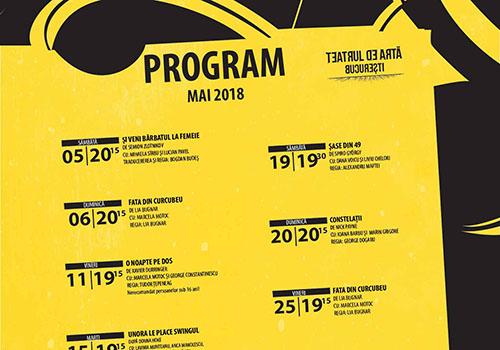 Programul Teatrului de Arta Bucuresti pe luna mai
