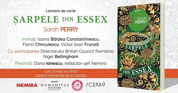 """""""Sarpele din Essex"""" se lanseaza pe piata romaneasca pe 21 mai"""