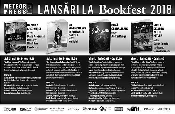 Evenimentele Meteor Press la Bookfest 2018
