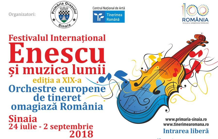 """Festivalul Internațional """"Enescu și muzica lumii"""" începe în 24 iulie"""