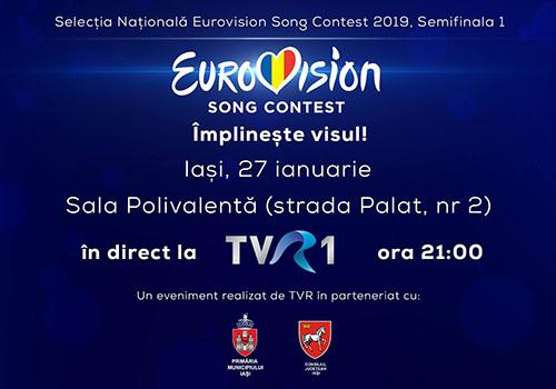 Prima semifinală a Eurovision România începe la ora 21:00