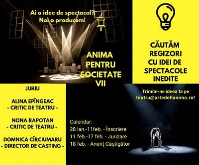 """Concurs de proiecte teatrale: """"Anima pentru Societate"""""""