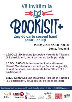 Programul târgului de carte pentru adulți Bookisit+