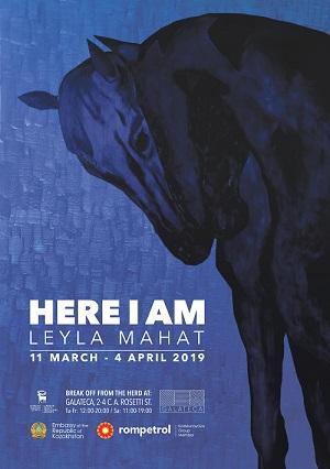 Artista kazahă Leyla Mahat expune la Galateca din 12 martie