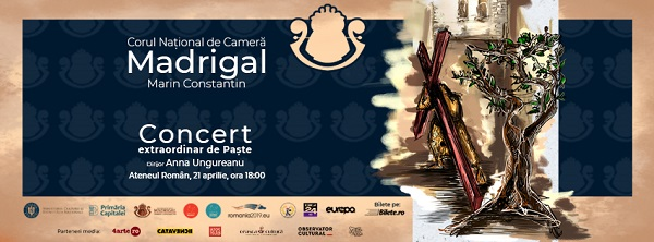 Corul Madrigal va susține un concert de sărbători pe 21 aprilie