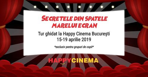 Copiii pot vizita cabina de proiecție de la Happy Cinema București