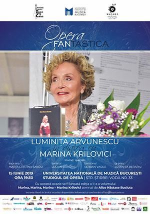 Marina Krilovici vine pe 15 iunie la OPERA FANtastica