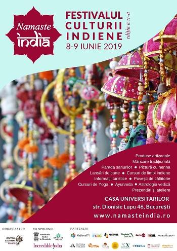 """8-9 iunie: Festivalul """"Namaste India"""" în Capitală"""